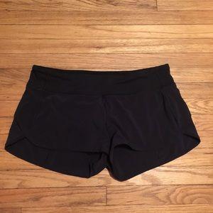 Lululemon black speed shorts - sz 10